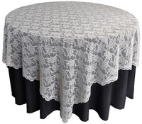 "Lace Table Overlay Toppers Wedding - 72"" square"