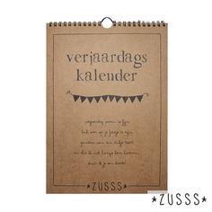 Zusss l Verjaardagskalender met de favoriete teksten van Zusss l http://www.zusss.nl/product/verjaardagskalender-teksten-van-zusss/
