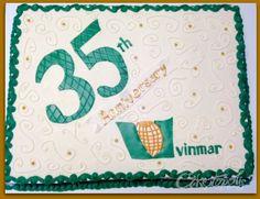35th corporate anniversary sheet cake https://www.facebook.com/Caketopolis