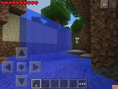 A mini waterfall in a typical plains biome.