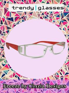 Sleek and #stylish, with a unique geometric pattern and fun color combinations, Freeze #ReadingGlasses for women from Cinzia Designs are simply fabulous! Buy Now: http://www.trendyglasses.net/freeze-by-cinzia-designs/