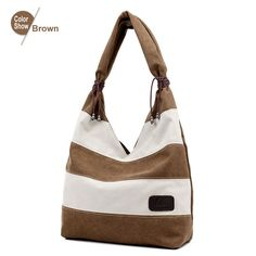 RoyaDong 2016 Women Bag Canvas Heart Shape Shoulder Bag Tassel Color Blocking Stripe Fashion Tote