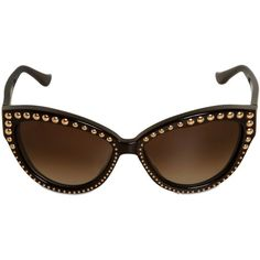 MOSCHINO Studded Cat-Eye Acetate Sunglasses found on Polyvore