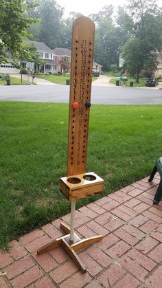 Homemade Hummingbird Food Discover Cornhole Scoreboard - Stain and Polyurethane