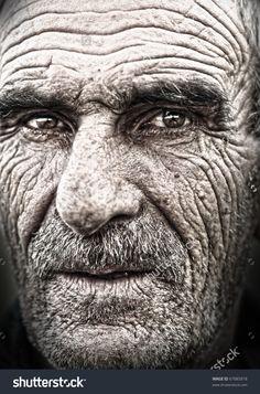 Closeup portrait of old man, wrinkled elderly skin, face Stock wrinkles on face - Skin Care Old Man Face, Old Faces, Face Wrinkles, Portraits, Medical Illustration, Face Skin Care, Interesting Faces, Old Men, Male Face