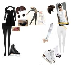 """""""Y!OI black-n-white"""" by crythin ❤ liked on Polyvore featuring Boohoo, 1928, Humble Chic, WearAll, KI6? Who Are You?, SPAIO and Riedell"""