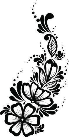 Pantillas de tatuajes de henna - Cuerpo y Arte Stencil Patterns, Henna Patterns, Stencil Designs, Designs To Draw, Flower Patterns, Flower Designs, Tattoo Henna, Henna Tattoo Designs, Henna Art