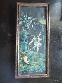 Lovers Dance w/ Cupid or Cherub print by Brunozetti with Vintage Frame 1920's | Art, Art Prints | eBay!