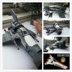 Battlestar Galactica Viper, Ork Dakka Jet, conversion, Warhammer 40k.