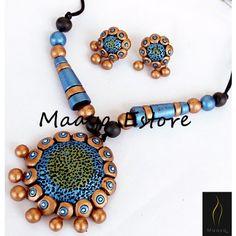 Peacock terracotta jewelry