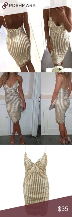 GORGEOUS GOLD DRESS! GORGEOUS GOLD MINI DRESS !! Fits tight to your body , great look! BRAND NEW never worn Dresses Mini