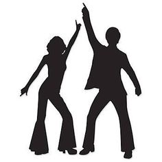 Add a great looking image to your walls and doors with these Disco Silhouette Cut Outs. Each package includes a male and female disco dancer.