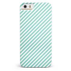 The Mint and White Vertical Stripes iPhone 5/5s or SE Candy Shell Case