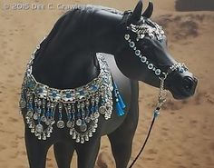Arab jewelry presentation set by DeeC'sDesigns  on a CM Arab by Linda Elkjer. http://equineartfromtheheart.com/custom-horses/