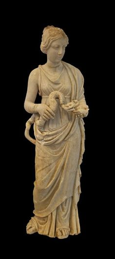 Small statue of Hygieia. Mid-2nd century C.E. | Archeological Museum of Rhodes