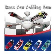 Kids Room Decor Race Car Ceiling Fan 52 With Light Kit Racecar Nascar