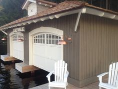 Nicest Boathouse ever-This is a gorgeous boat house. Arched opening with arched stockton windows.