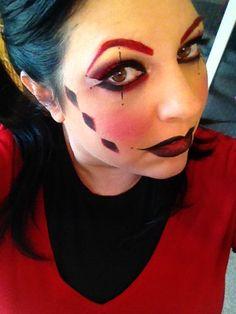 Harley Quinn #makeup #halloween