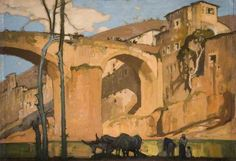 Frank Brangwyn The Bridge, Subiano 1921