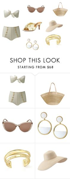 """""""Untitled #3"""" by dadulla on Polyvore featuring Lisa Marie Fernandez, Flora Bella, Linda Farrow, Kate Spade, Elizabeth and James, Eric Javits and Kay Unger New York"""