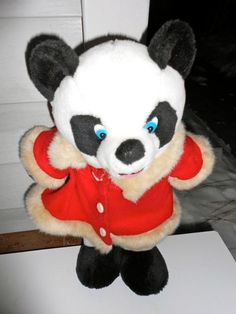 Vintage Teddy Bear Panda TV Beverly Hills 90210 90s with