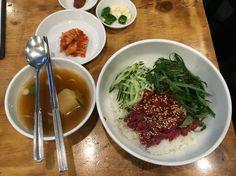 광장시장 육회자매 육회비빔밥