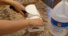 Elle fait tremper des serviettes en papier dans du vinaigre, regardez pourquoi, c'est brillant !