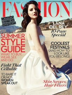 FASHION CANADA SUMMER, 2013 COVER |  LANA DEL REY  . PHOTOGRAPHED BY MARK WILLIAMS & SARA  HIRAKAWA