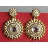 36garhiart-white-pearl-gold-tone-earrings