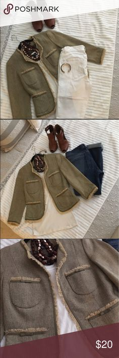Olive ice girl jacket Jack made by Ice Girl olive green. 3/4 sleeves purchased but never worn. ice girl Jackets & Coats Blazers