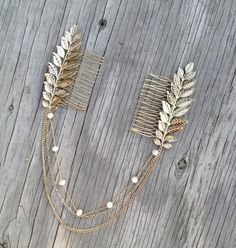 BEST SELLER Handmade Boho chic chains and leaves comb Free sprited glamour Chains hang beautifully on loose waves or a high bun Ships within 1-3 business days.