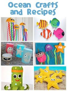 Ocean Crafts  ready for all ages and easy to do!