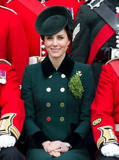 Prince William, Duke of Cambridge and Catherine, Duchess of Cambridge attend the annual Irish Guards St Patrick's Day Parade at Household ...