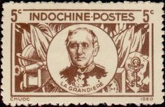 Stamp: Pierre Paul Marie de la Grandière (1807-1876) (French Indochina) (Personalities) Yt:FR-IC 264,Mi:FR-IC 336a