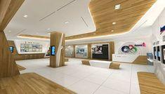 Amway show room on Behance Bank Interior Design, Corporate Interior Design, Corporate Interiors, Contemporary Interior Design, Retail Design, Shop Interiors, Office Interiors, Cheap Interior Wall Paneling, Spaceship Interior