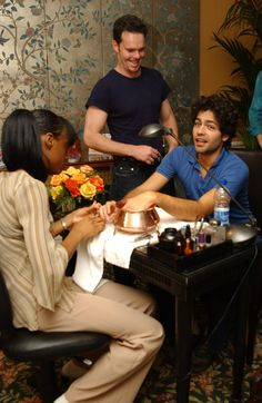 Adrian Grenier and Kevin Dillon - L'Oreal Paris Beauty Suite