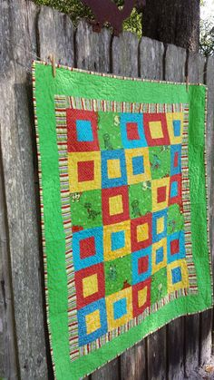 Colorful quilt by TeresaScholleDesigns on Etsy