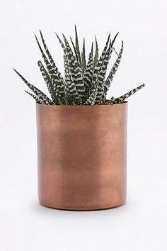 Pot de fleur moyen en métal moderne 12€