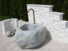 Fountain, Outdoor Decor, Home Decor, Architectural Materials, Natural Stones, Round Round, House, Decoration Home, Room Decor