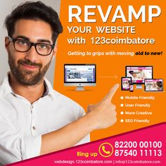 Is your Website Responsive? Are you getting decent mobile traffic? Is your traditional website can meet the business brand objective online? (If not) Contact us: 82200 00100 to Revamp your website now! Responsive Web Design, Coimbatore, Web Design Company, Business Branding, Meet, Traditional, Website