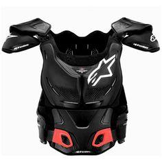 Alpinestars NEW Mx A8 Black Offroad Roost Guard Motocross Dirt Bike Body Armour #Alpinestars