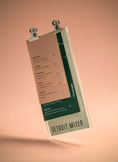 Detroit Mixer Corporate Design - Mindsparkle Mag - Beautiful branding for Detroit Mixer, a cocktail bar, created by The Branding People in Mexico. Beautiful branding for Detroit Mixer, a cocktail bar, created by The Branding People in Mexico. Restaurant Branding, Cafe Branding, Restaurant Menu Design, Hotel Branding, Identity Branding, Visual Identity, Wood Branding, Restaurant Restaurant, Rustic Restaurant