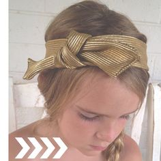GOLD knot turban Headband baby & Adult by dejavucrafts on Etsy