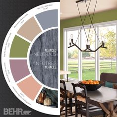 Nuanced Neutrals: Comfortable, weathered colors are the hallmark of today's midrange #neutral palette. #2015ColorTrends #BehrPaint
