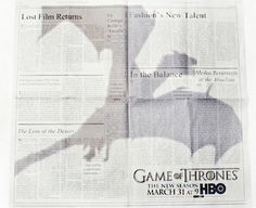 Dragon Flies Overhead in 'Game of Thrones' Print Ad