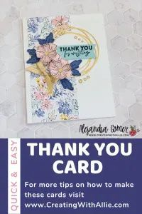 Using an sketch to make a card with the Flowers of Friendship bundle from Stampin Up!