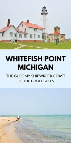 see the post for more! michigan summer vacation spots, ideas, places in the US. lighthouse michigan things to do upper peninsula up north. lake superior, great lakes. US outdoor vacation road trip midwest