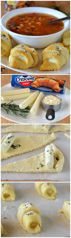 Crescents Easy cheesy side for your favorite soup!