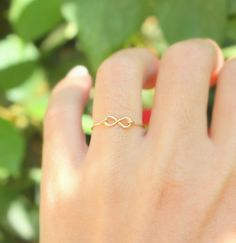 Infinity Ring -  Best friend infinity ring, sister rings,14k gold filled handmade wire ring , knuckle ring, gold ring,simple gold ring $21