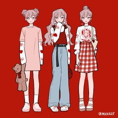 aesthetic soft oufit girl - inspired in Coca-Cola Arte Do Kawaii, Kawaii Art, Cute Art Styles, Cartoon Art Styles, Character Outfits, Character Art, Arte Copic, Dessin Animé Lolirock, Drawing Anime Clothes